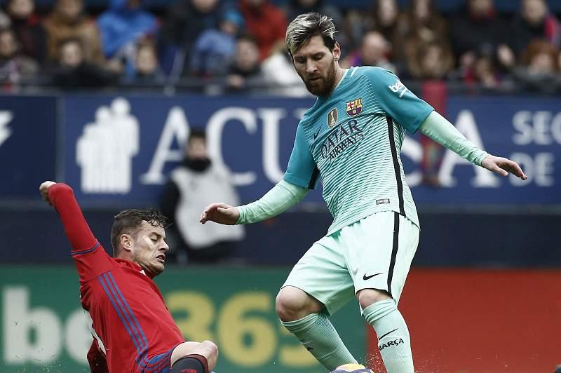 Messi bisa na vitória do Barcelona sobre o Osasuna (3-0)