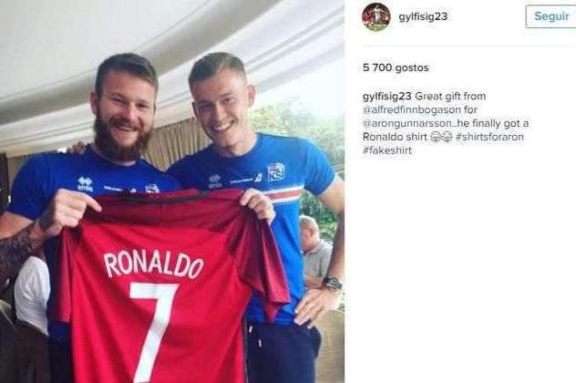 Gunnarsson já tem a camisola de Cristiano Ronaldo