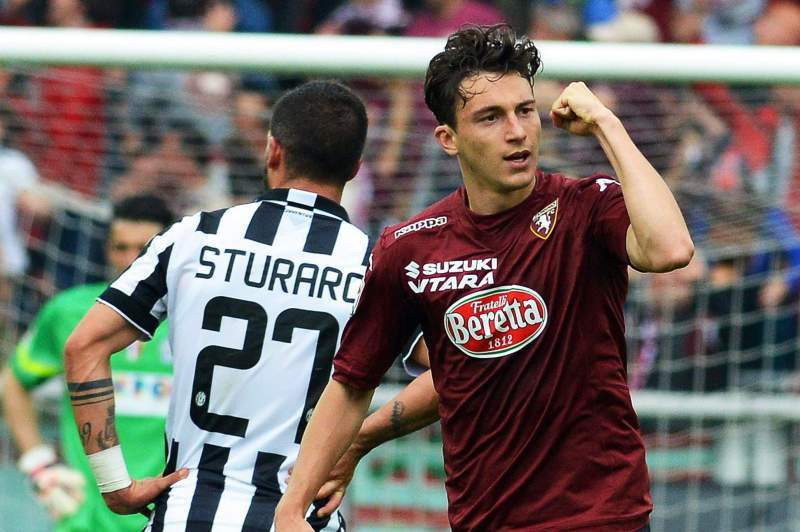 Matteo Darmian, do Torino, celebra o golo marcado