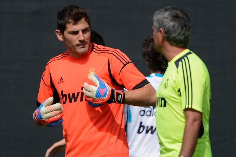 Casillas e Mourinho