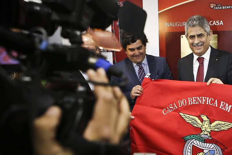 Luís Filipe Vieira na inauguração da Casa do Benfica de Loures