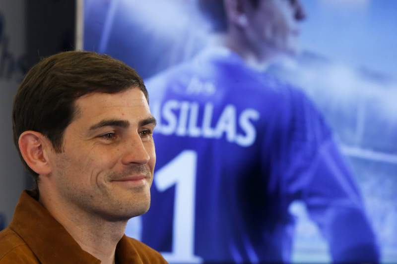 Porto's Spanish goalkeeper Iker Casillas