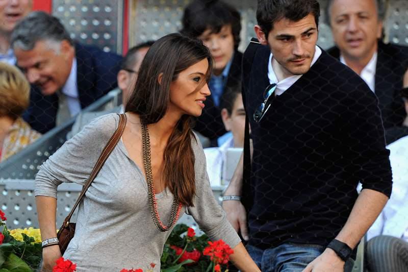 Casillas e a mulher, Sara Carbonero