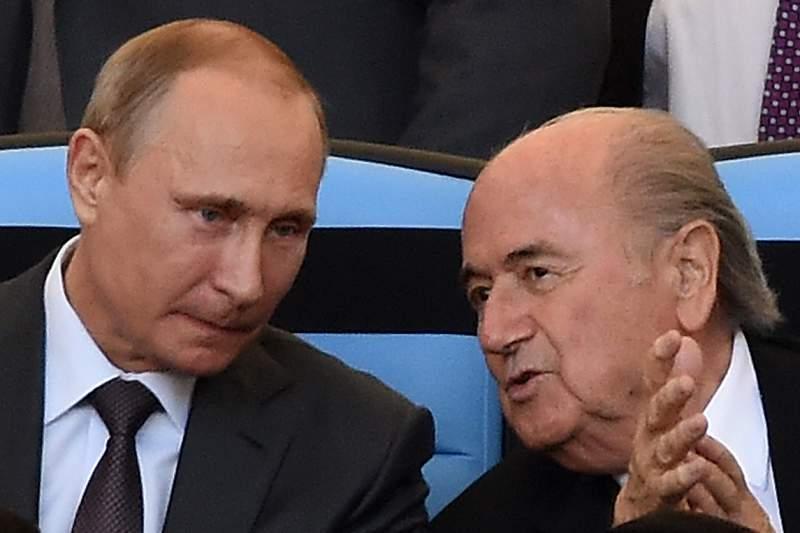 Vladimir Putin vai reunir-se no sábado com Joseph Blatter no sorteio do Mundial2018
