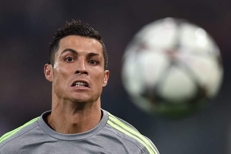 Cristiano Ronaldo em ação no Roma-Real Madrid