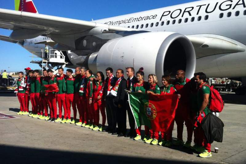 Atletas portugueses embarcam para o Rio2016
