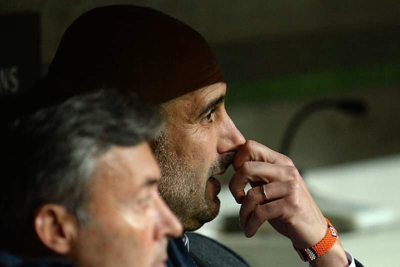 Pep Guardiola no banco técnico do Bayern Munique