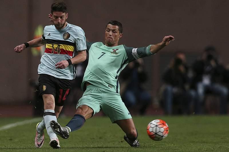 Ronaldo em ação contra a Bélgica