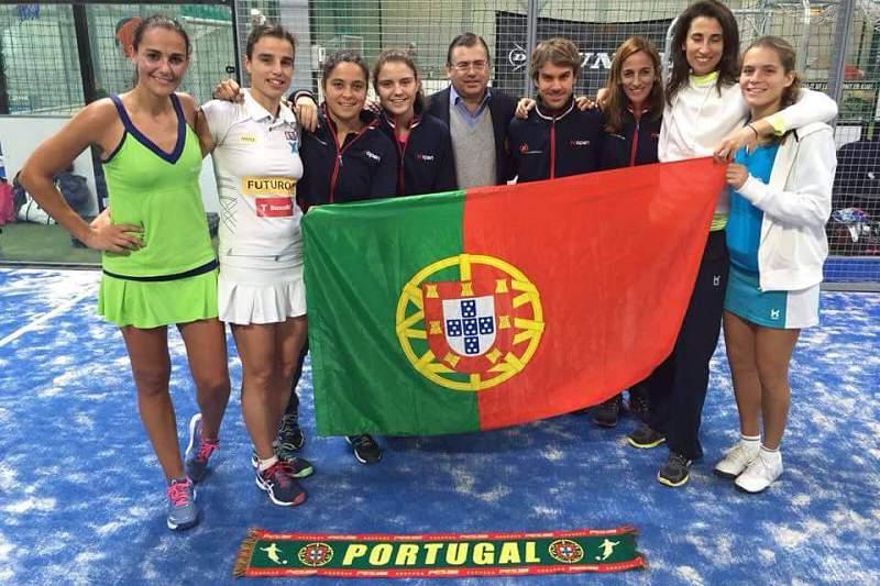 Portugal campeão da Europa feminino de padel