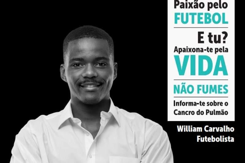 William Carvalho dá a cara pela luta contra o cancro do pulmão