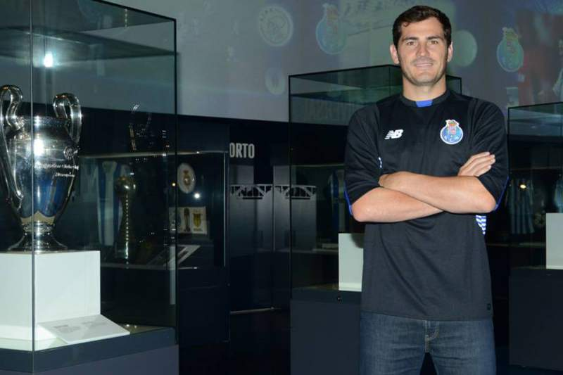Iker Casillas no museu do FC Porto