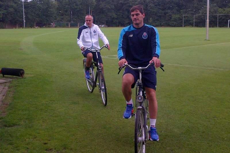 Primeiro treino de Casillas no FC Porto