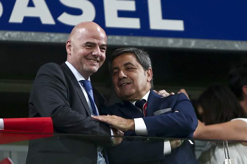 Presidente da Federação Portuguesa de Futebol elogiado por Gianni Infantino à margem do ciclo de conferências 'Football Talks'.