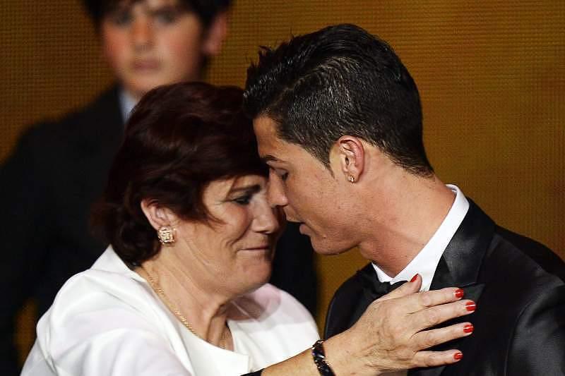Cristiano Ronald e a mãe