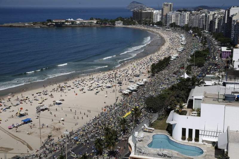 Nationwide protests in Brazil agaionst Dilma government