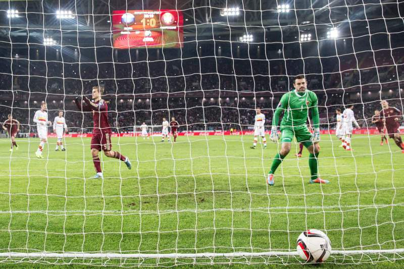 Kokorin marca uma grande penalidade para os russos