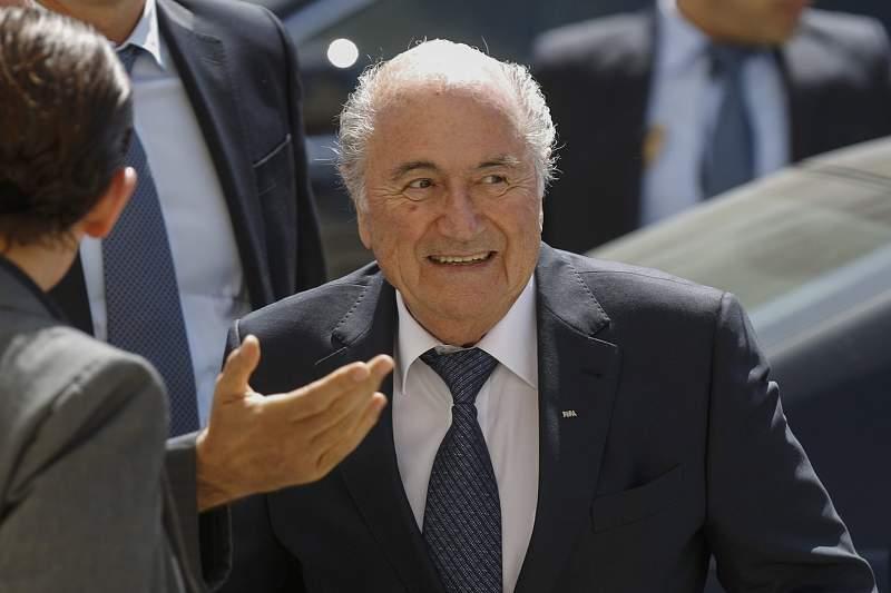 FIFA President Sepp Blatter visits