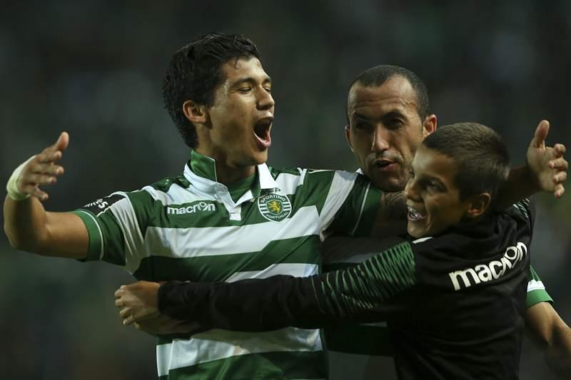 Fredy Montero celebra o golo da vitória sobre o Nacional da Madeira