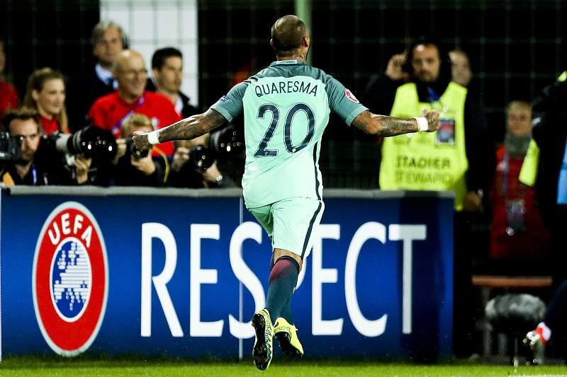 Ricardo Quaresma celebra o golo da vitória sobre a Croácia