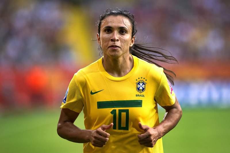 Marta, jogadora da seleção do Brasil