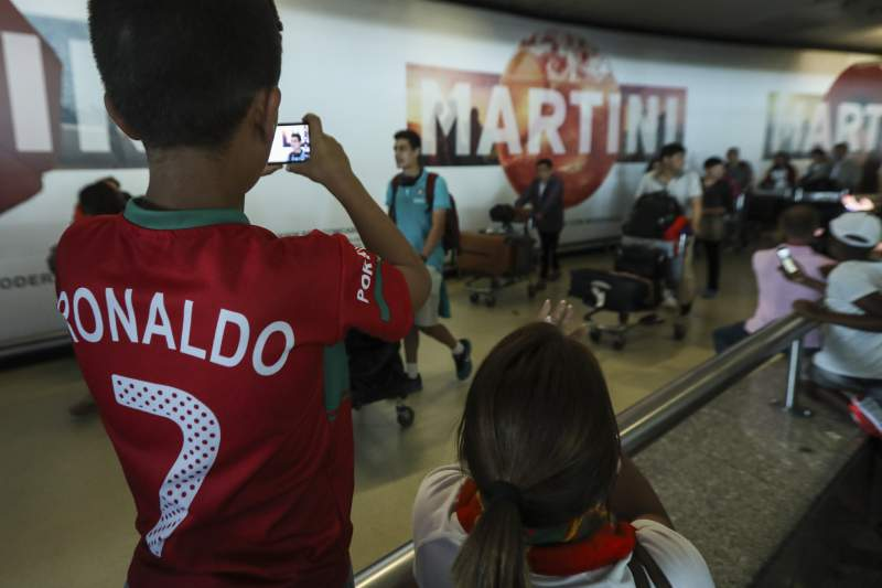Chegada da seleção sub-19 a Portugal