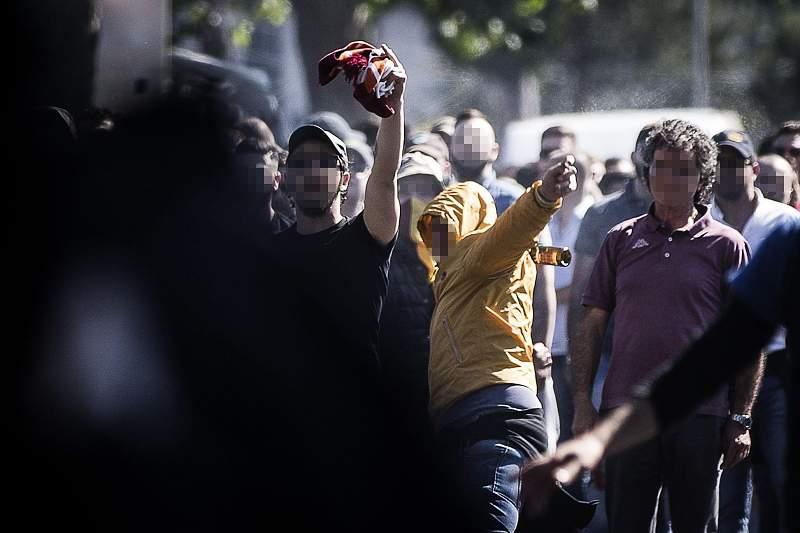 Confrontos entre adeptos da Lazio e AS Roma acabaram mal