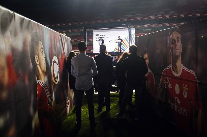 Cerimónia de apresentação do acordo entre a Benfica SAD e a NOS