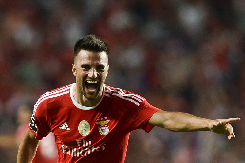 Benfica-Moreirense: Samaris festeja golo