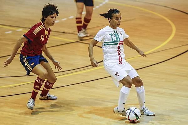 Sofia Vieira em ação pela seleção nacional de futsal