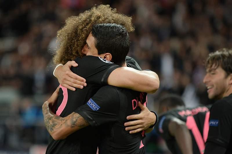 David Luiz e Di María