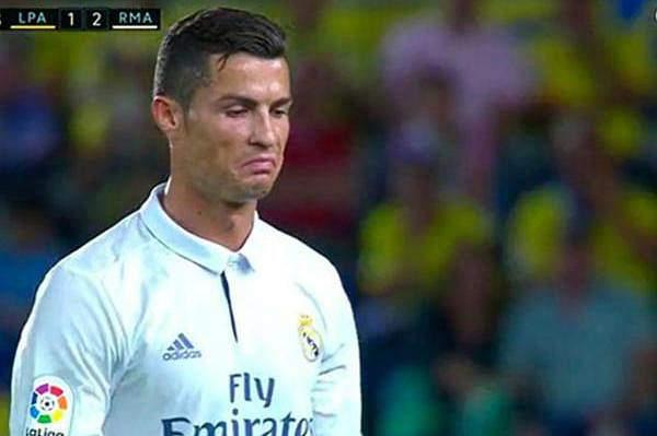 Cristiano Ronaldo após ser substituído frente ao Las Palmas.