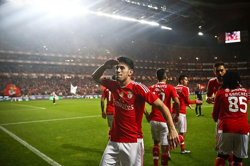 Pizzi do Benfica festeja um golo