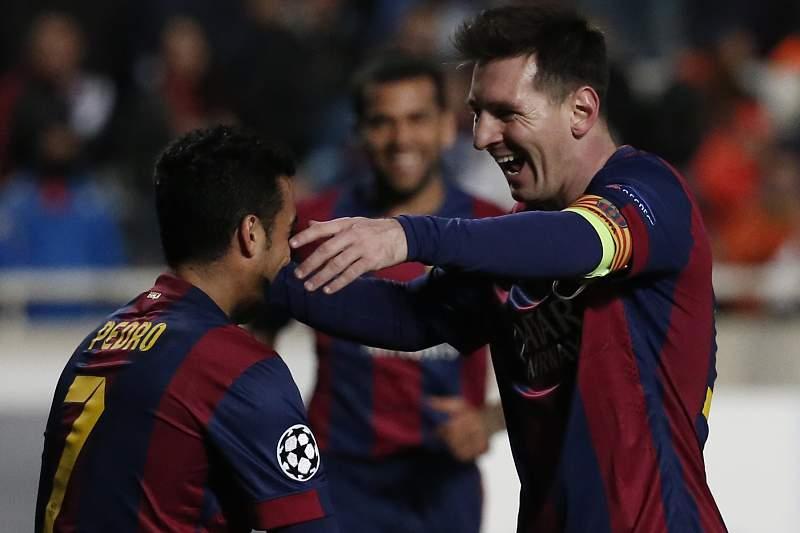 Pedro e Messi
