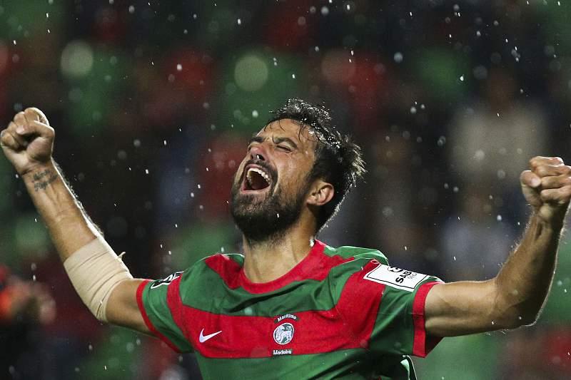 Maurício celebra o golo da vitória frente ao Benfica
