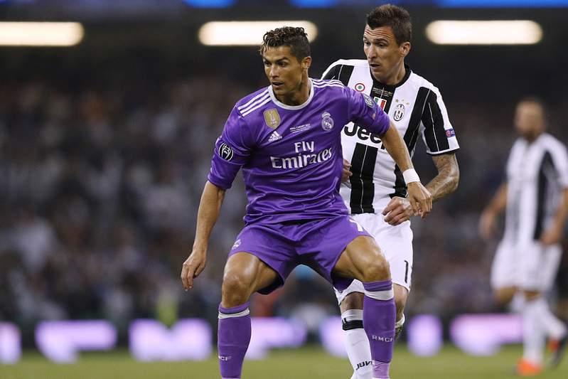 Real Madrid e Juventus empatam ao intervalo
