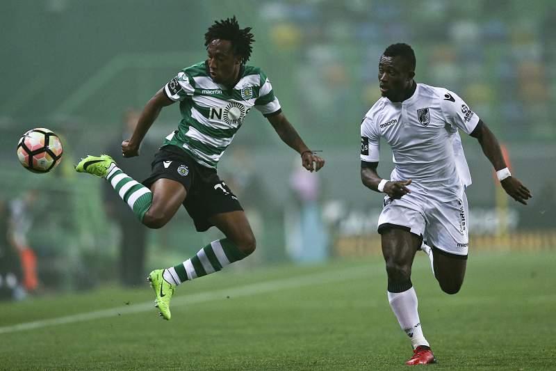 Gelson Martins em ação no jogo entre Sporting e Vitória SC