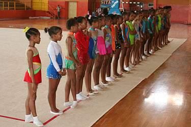 Ginastas em Cabo Verde