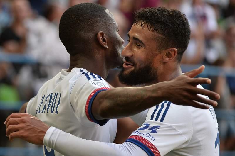Nabil Fekir celebra um golo frente ao Caen