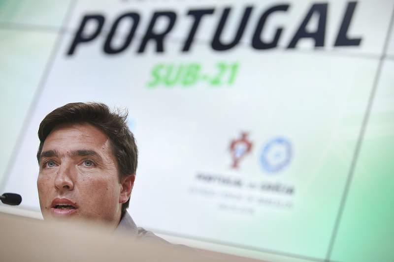 Conferência de imprensa do selecionador nacional de sub-21, Rui Jorge.