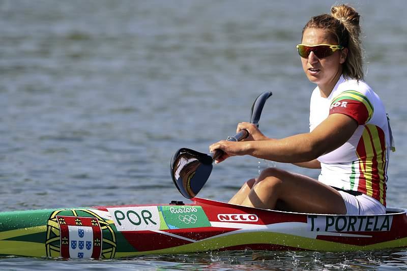 A canoísta Teresa Portela em ação nos Jogos Olímpicos do Rio de Janeiro