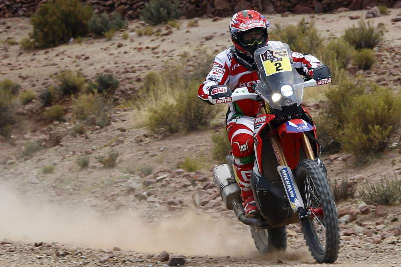 Português Paulo Gonçalves em Honda durante a 7ª etapa do Rally Dakar 2016 entre Uyuni, Bolívia e Salta, Argentina.Felipe Trueba/Lusa