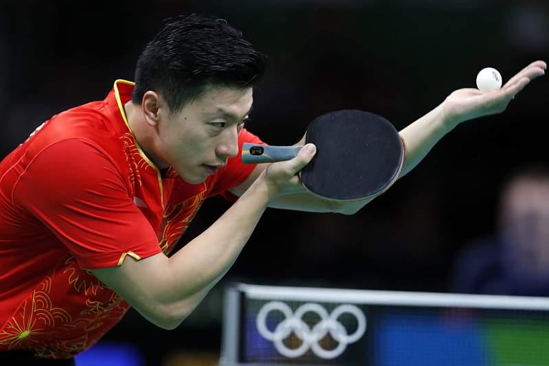 Ma Long em ação nos Jogos Olímpicos do Rio de Janeiro