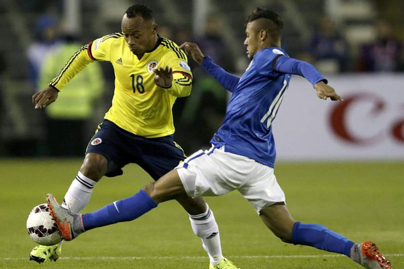 Juan Zuñiga em ação pela seleção da Colômbia