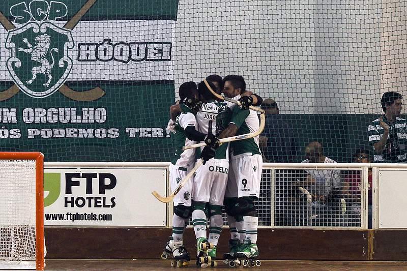 Equipa do hóquei em patins do Sporting