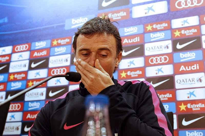 Luis Enrique, treinador do Barcelona