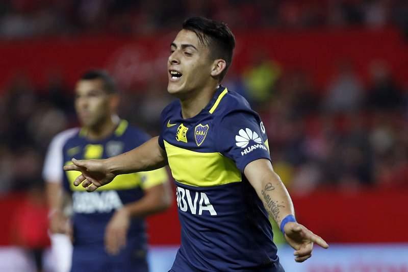 Pavón celebra um golo pelo Boca Juniors