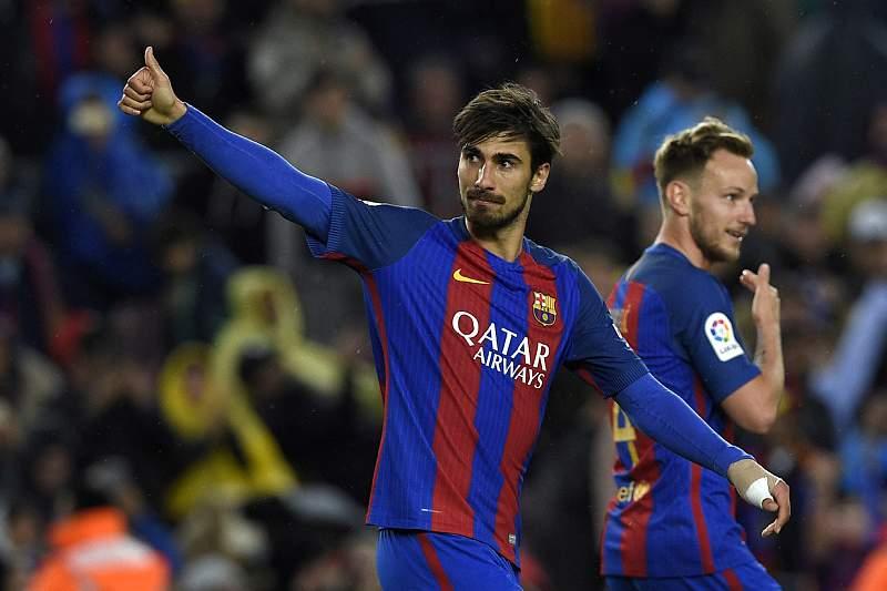 André Gomes festeja golo pelo Barcelona