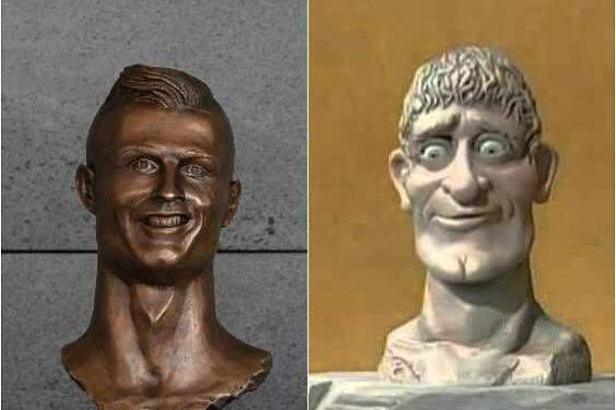 Busto do Cristiano Ronaldo