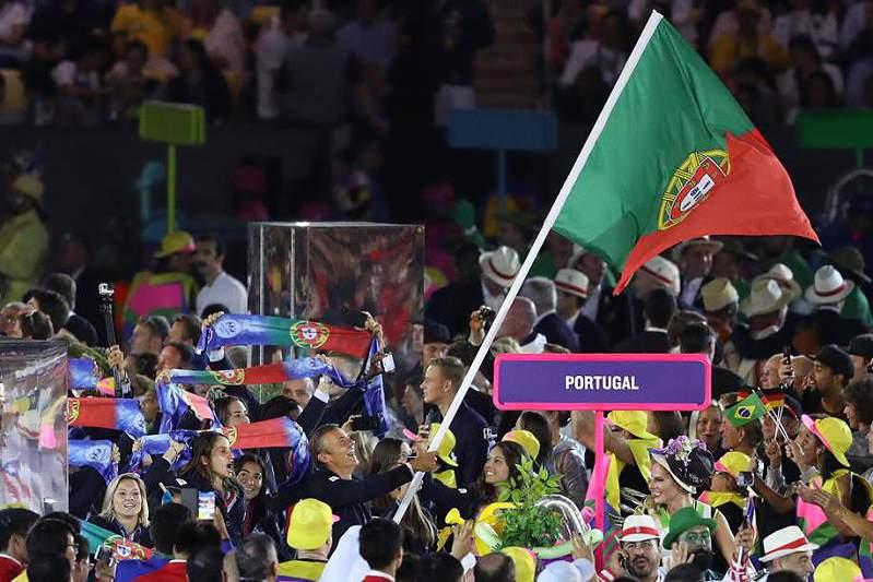 Desfile de Portugal na abertura dos Jogos