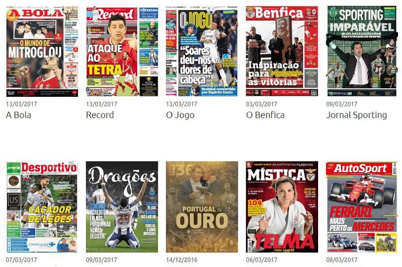 O ataque do Benfica ao tetra, o mundo de Mitroglou e Soares são os destaques das manchetes